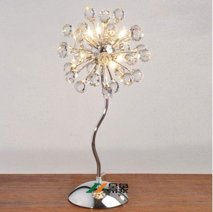 Atacado e varejo Modern cristal lâmpada minimalista sala de estar quarto mesa de cabeceira lâmpadas de cristal
