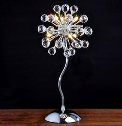 Canada En gros et au détail Moderne minimaliste salon chambre table de chevet lampe cristal lampes cristal Offre