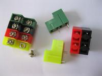 Discount lowering blocks - Screw Terminal Block Connector 8.5mm 2 pin high-low 4 Color Barrier Type 100 Pcs Per Lot Hot Sale