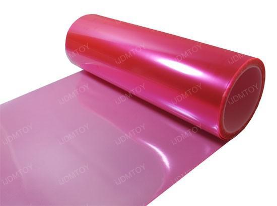 30 cm * 10 m Glossy Hot Cor Rosa Matiz Luzes Faróis de Nevoeiro Sidemarker Vinyl Film Motor Etiqueta Do Carro