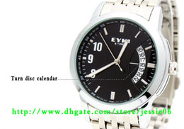 Wholesale Eyki Watches Men - EYKI quartz watch fashion calendar watches man watch waterproof stainless steel watch 20pcs lot hots