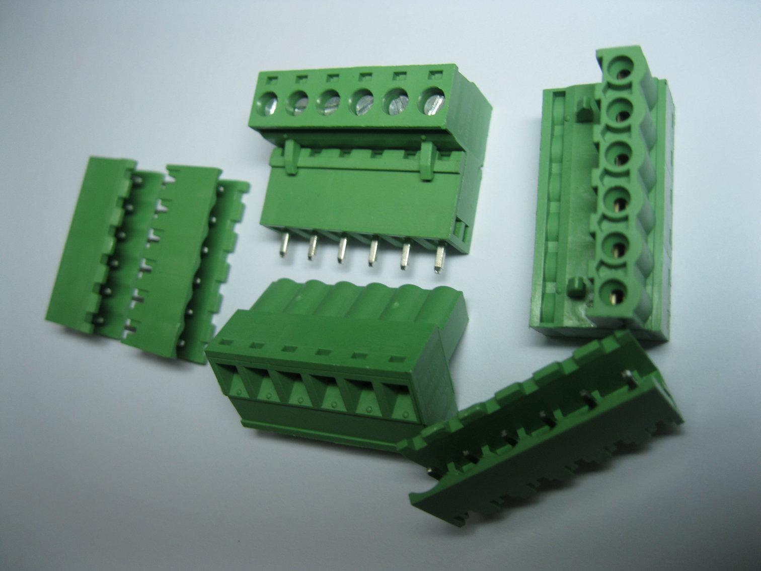 Screw Wiring Connectors Simple Electronic Circuits Automotive Connector Blocks Green 6 Pin 5 08mm Terminal Block Pluggable Type Hot Rh Dhgate Com 4 Wire
