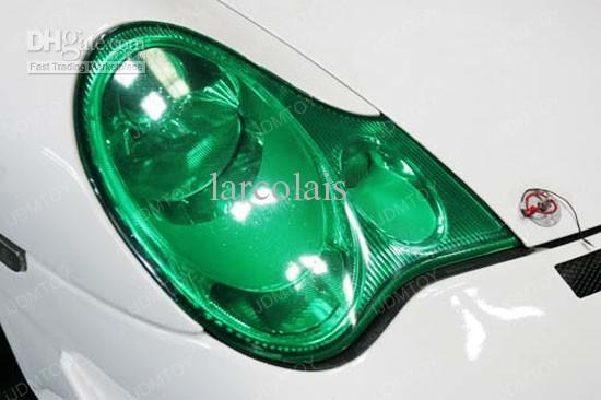 30 cm * 10 mt Glänzende Smaragd Grüne Farbe Tönung Scheinwerfer Nebelscheinwerfer Seitenmarker Vinyl Film Auto Auto aufkleber