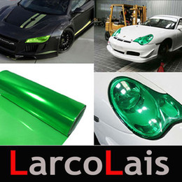 Wholesale Green Headlight Film - 30cm*10m Glossy Emerald Green Color Tint Headlights Fog Light Sidemarker Vinyl Film Auto Car Sticker