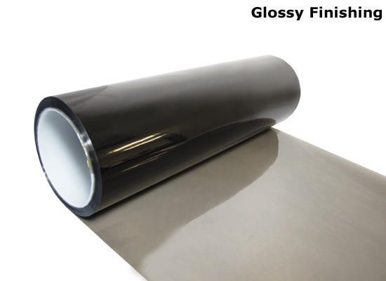 30cm * 10m Glansigt ljus Svart Färg Tint strålkastare Dimljus Sidemarker Vinyl Film Motorbil Klistermärke