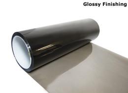 Wholesale Window Tint Mirror - 30cm*10m Glossy Light Black Color Tint Headlights Fog Lights Sidemarker Vinyl Film Motor Car Sticker