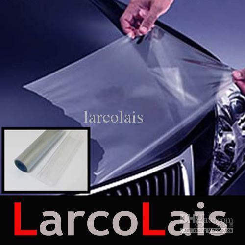 30cm * 10m blanka klara skyddsutljus dimljus sidemarkör vinylfilm motorbilklistermärke