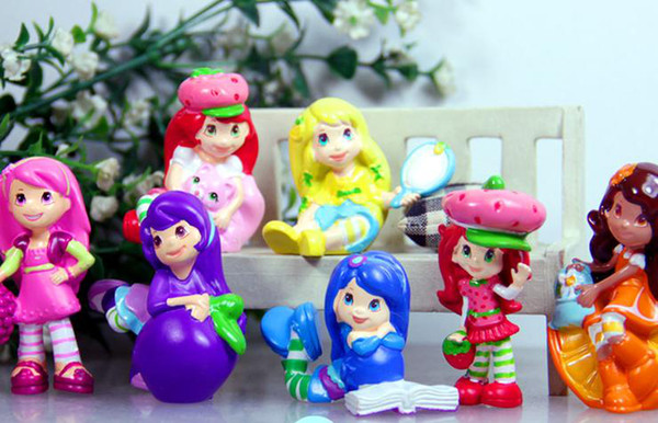 7Pcs Strawberry Shortcake  Action Figure PVC Kids Toys Doll Model Girl Gift#1
