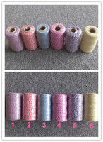 Wholesale Cotton Twine - 110yards 12ply Double color Cotton Bakers twine for food and gift packing 15pcs lot free shipping
