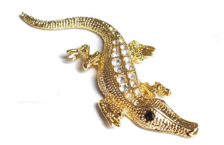 Frete grátis 30 PÇS / LOTE 3D Metal Crocodilo Legal Adesivos de Carro Decalques Tanque De Combustível De Prata Adesivos
