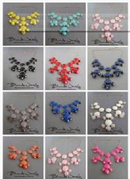 Wholesale Gold Bubble Necklace Wholesale - 2012 Women Bubble Bib Statement Party Long Fringe Necklace jewelry pendant bead 10 color choose gift