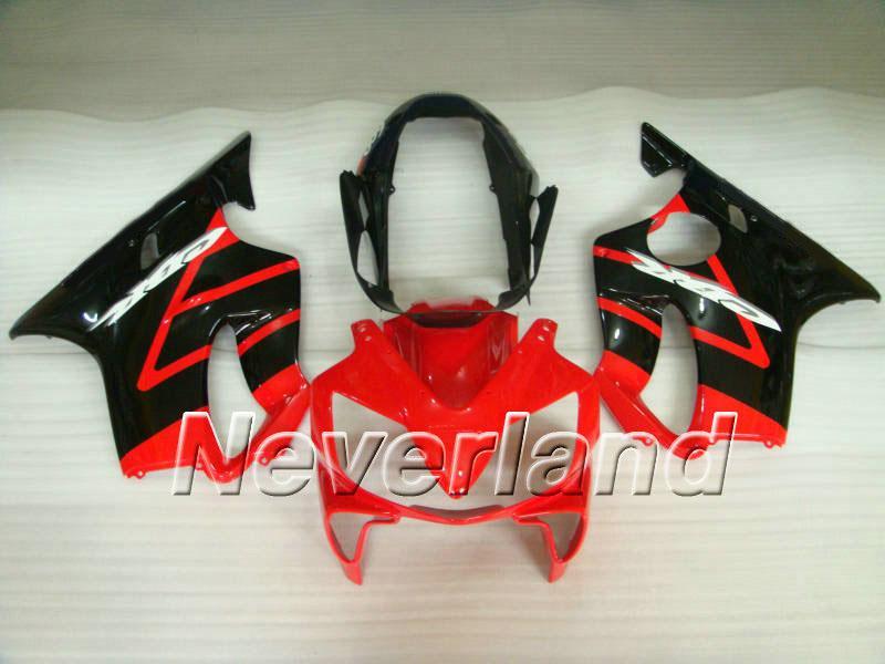 Röd svart kropp för Honda Fairing Kit CBR600F4I CBR600 F4I 04 05 06 07 CBR 600 2004 2005 2006 2007