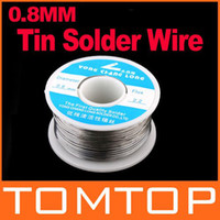 Wholesale Solder Wire Reel Soldering - 0.8mm 100g Tin Lead Melt Rosin Core Solder Soldering Wire Reel Free Shipping H8495