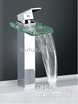 2019 Classic Design Faucet Waterfall Square Glass Kitchen Bathroom