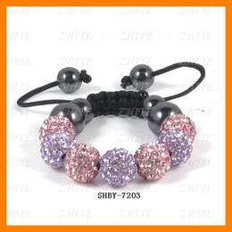 Wholesale Wholesale Ceramic Babies - Colorful Baby Crystal Bracelets 10 pcs lot