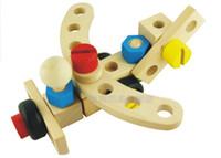 coche de juguete de madera diy al por mayor-Candice guo! Juguete de madera educativo DIY de la venta caliente