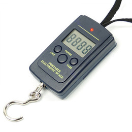 20g 40kg Digital Hanging Luggage Fishing Weight Scale Electronic Kitchen  Cooking Scales Lage Traveling Weighting Steelyard With LCD Display