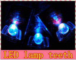 Wholesale Wacky Halloween - Free shipping wholesale Japanese LED lamp glow teeth teeth flash braces wacky dentures (30pcs lot)