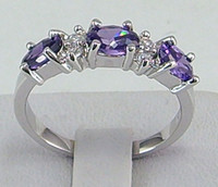 Wholesale Mens 14k White Gold Rings - Free Shipping! HOT New Fashion Elegant women mens lovers wedding ring 1.38ct Tanzanite gemstone ring diopside rings solid 14k white gold