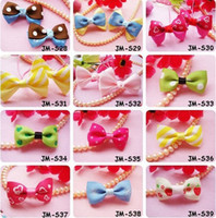 Wholesale Ruffles Clips - Baby Girl Christmas Gift Hair bows clips Costume Double Ruffle Boutique Tone Leaves Hairbows Clip