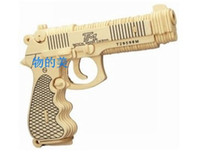 Wholesale Wooden Toy Rubber Band Gun - Classical Rubber Band Wooden Pistol Gun Toy (Toy) Free Shipping, Wholesale