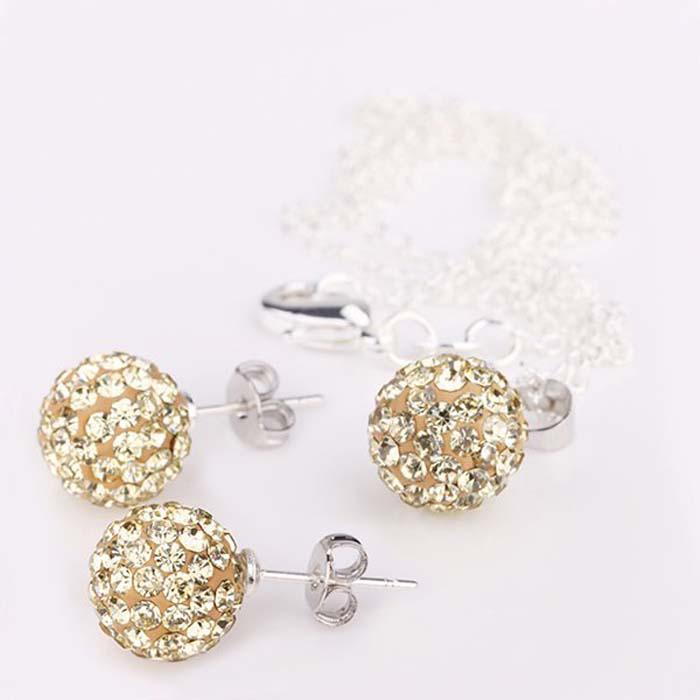 925 zilver 10mm Crystal Disco Ball Bead Crystal Bead Fit