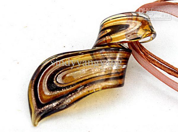 Thread Art murano colgante de vidrio collar de cuentas Moda italiano veneciano joyas de cristal de Murano