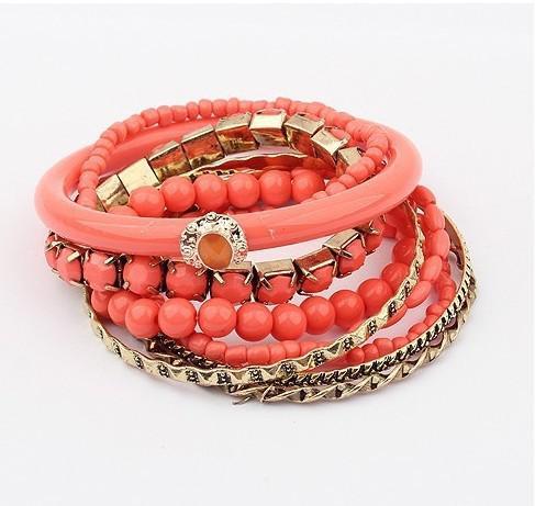 Bracelets de perles en acrylique