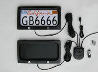 capas de controle remoto venda por atacado-EUA Metal EUA carro licença titular placa de placa de controle remoto quadro de licença de carro Americano Placa de privacidade tampa EMS livre