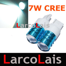 Wholesale Cree Q5 Led Emitter - T20 3156 7440 Wedge CREE Q5 Emitter 7W Led Reverse Back up Light Lamp Bulbs