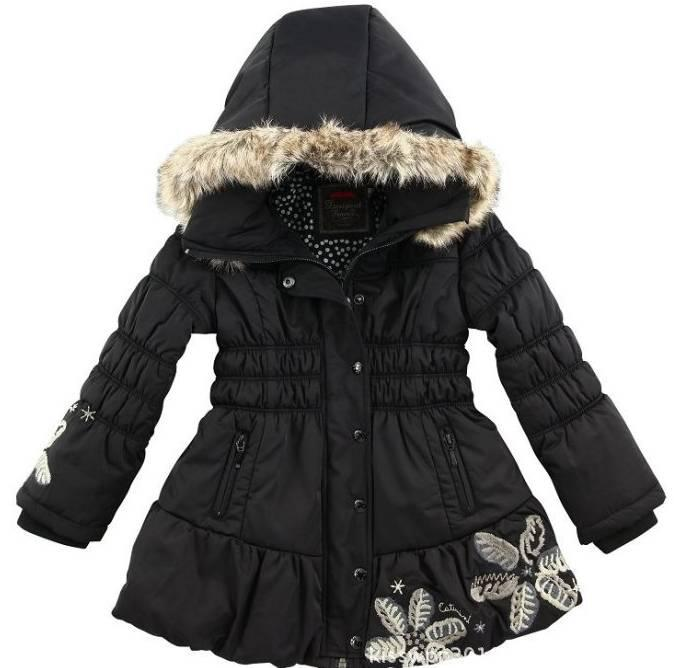 New Kids Catimin* Girls's Cotton Coat,Black Girl Hoodie Jacket ...