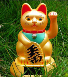 Wholesale Solar Power Lucky Cat - 2015 5pcs lot Solar Powered Waving Lucky Cat Dimensions: 3.23 in x 3.23 in x 4.8 in