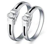 i̇sviçre elmas yüzüğü 925 toptan satış-21STYEL !! Aksesuarları popüler 925 gümüş takı çift yüzükler İsviçre düğün elmas yüzük. (6 adet / grup)