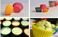 Wholesale Muffin Cake Cases Silicone - Silicone Muffin Cake Cupcake Cup Cake Mould Case Bakeware Maker Mold Tray Baking Jumbo