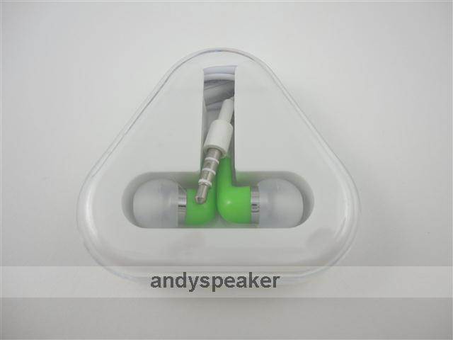 크리스탈 상자 마이크 handfree 헤드셋 이어폰과 삼성 아이폰 아이팟 MP3 3.5mm의를위한 귀 이어폰에서