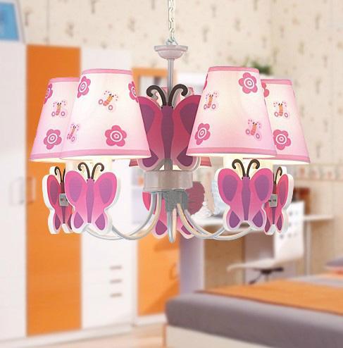 Modern Children\'s Cartoon Butterfly Chandelier Bedroom Study Lamp ...