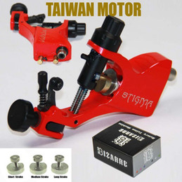 Wholesale Professional Stigma Bizarre V2 Rotary - Stigma Bizarre V2 Rotary Tattoo Machine Gun & 3 Stroke Excenter For Gift Professional Kits Supply