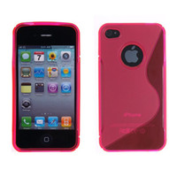 Wholesale Iphone 4s Tpu S Line - 200pcs For Iphone 4 4g 4gs 4s S-Line S Line Grip Gel Silicone Tpu Case Cover Skin