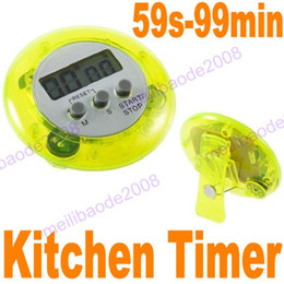 Wholesale Digital Count Up Down Timer - 20pcs K50 5-Colors Mini Digital Kitchen Count Down Up LCD Clip Timer Alarm Cooking Break Time