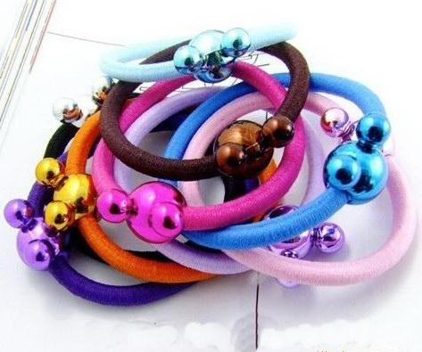 Korean candy colored Animal head hair rope/ring wholesale headband hair clip accessories100/300/500p