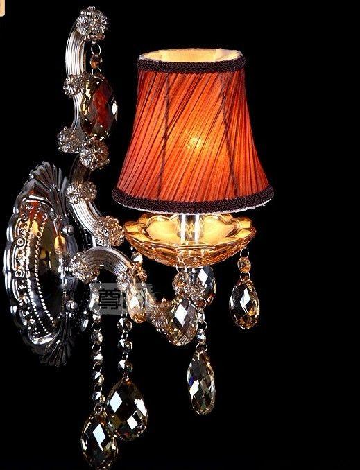 Lámpara de pared de cristal shinning del envío libre / lámpara de pared de cristal / iluminación de la lámpara de pared del dormitorio 1L