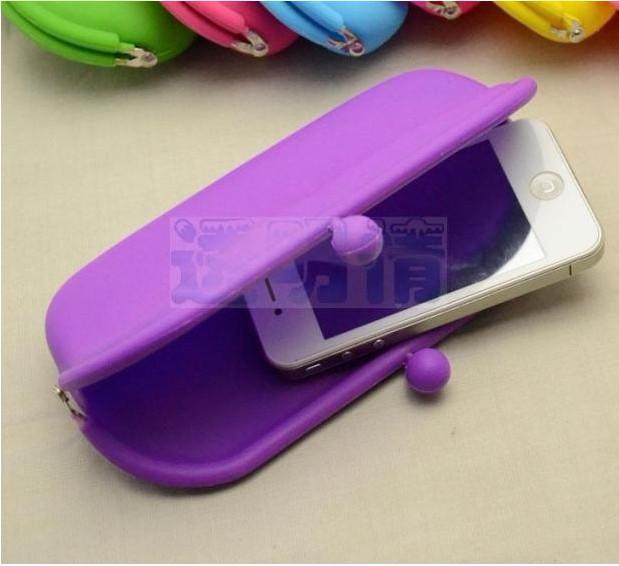 silicone carteira telefone pacote óculos saco cosmético saco de presente de natal