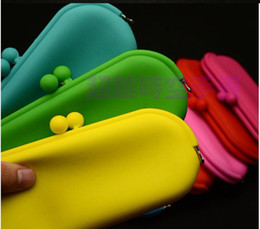 Wholesale Silicone Cosmetic Bag - 10pcs Silicone wallet phone package glasses bag Cosmetic bag Christmas gift