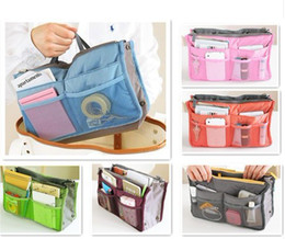 Wholesale Large Purse Organiser - Women Travel Insert Handbag Organiser Purse Large liner Organizer Tidy Bag Pouch