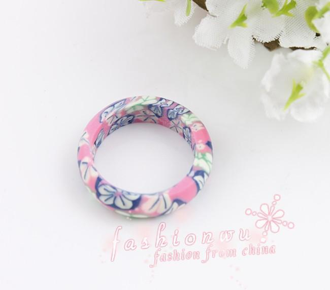 Mix Color Thin Polymer Clay Rings Fimo Brand Rings Fashion Ring mix sizes Jewelry