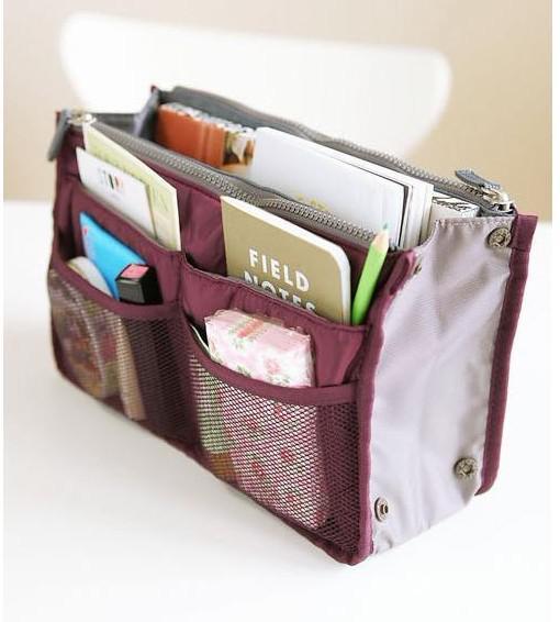 Mulheres Viagem Inserir Bolsa Organizador Bolsa Grande forro Organizador Tidy Bag Bolsa rosa