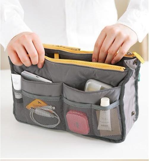 여성 여행 삽입 핸드백 주최자 지갑 대형 라이너 주최자 뚜껑 가방 주머니