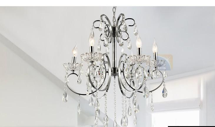 European Simple Crystal Lamp Chandelier/ Bedroom Lamp