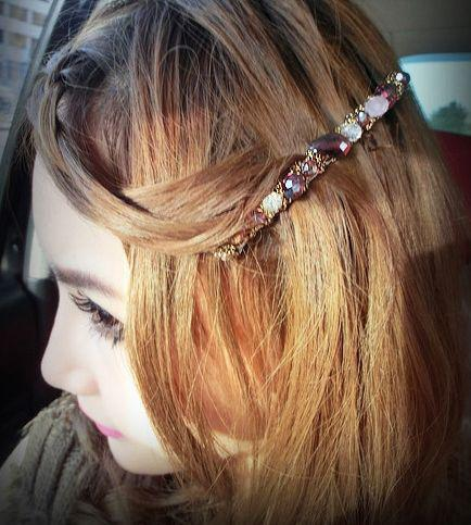 Newest headwear decorations hair crystal Hair hoop hairclips alloy headband clamp diamond jewelry