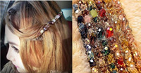 Wholesale Hair Clips Clamp Rhinestone - Newest headwear decorations hair crystal Hair hoop hairclips alloy headband clamp diamond jewelry